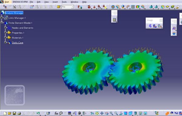 CAD drawing of motorbike gearbox